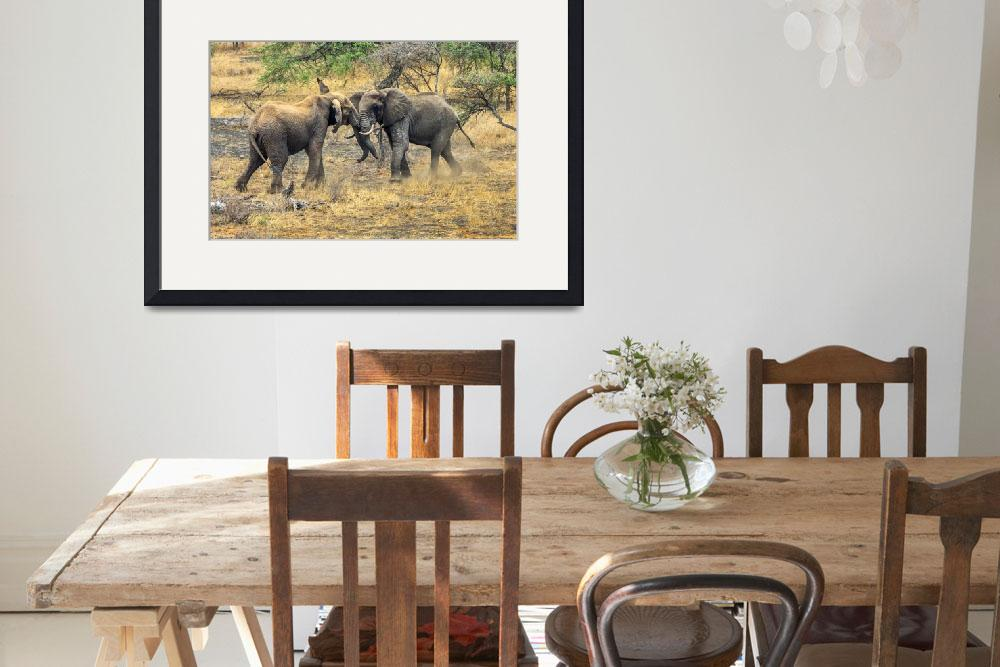 """East African Elephants at Play""  (2011) by mjphoto-graphics"
