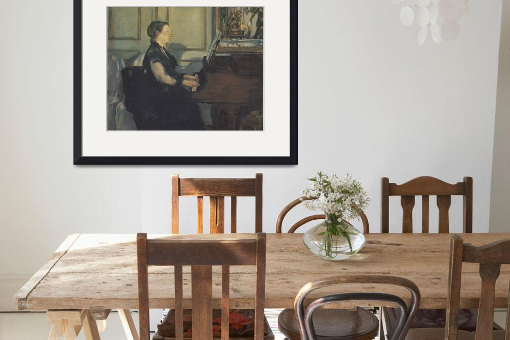 """""""Madame Manet at the Piano (1867–1870)&quot  by ArtLoversOnline"""