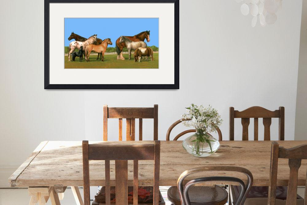 """""""Variety of Horses""""  (2011) by jacksby"""