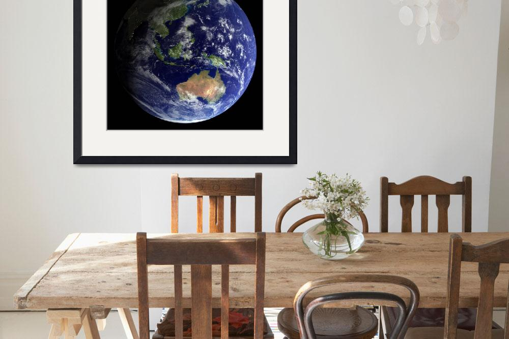 """""""Full Earth from space showing Australia&quot  by stocktrekimages"""