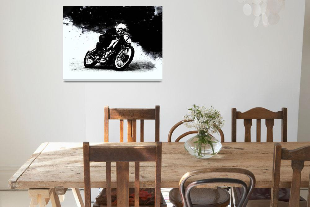 """The Vintage Motorcycle Racer""  (2016) by mark-rogan"