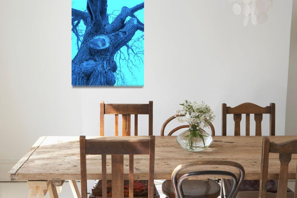 """blue tree trunk""  by MariasArt"
