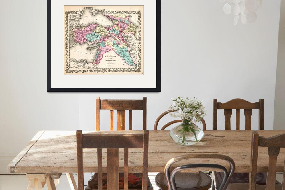 """1855 Colton Map of Turkey Iraq and Syria _-_Geogra&quot  by motionage"
