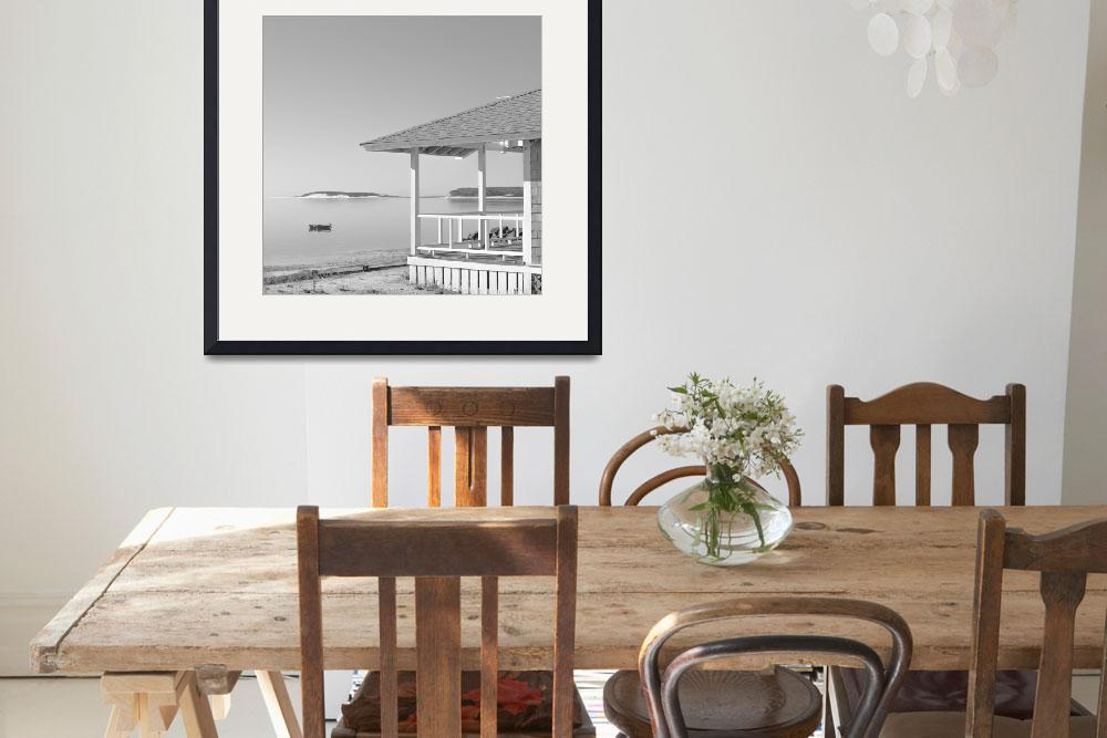 """""""Cottage On The Beach Black and White Photography&quot  (2014) by Black_White_Photos"""