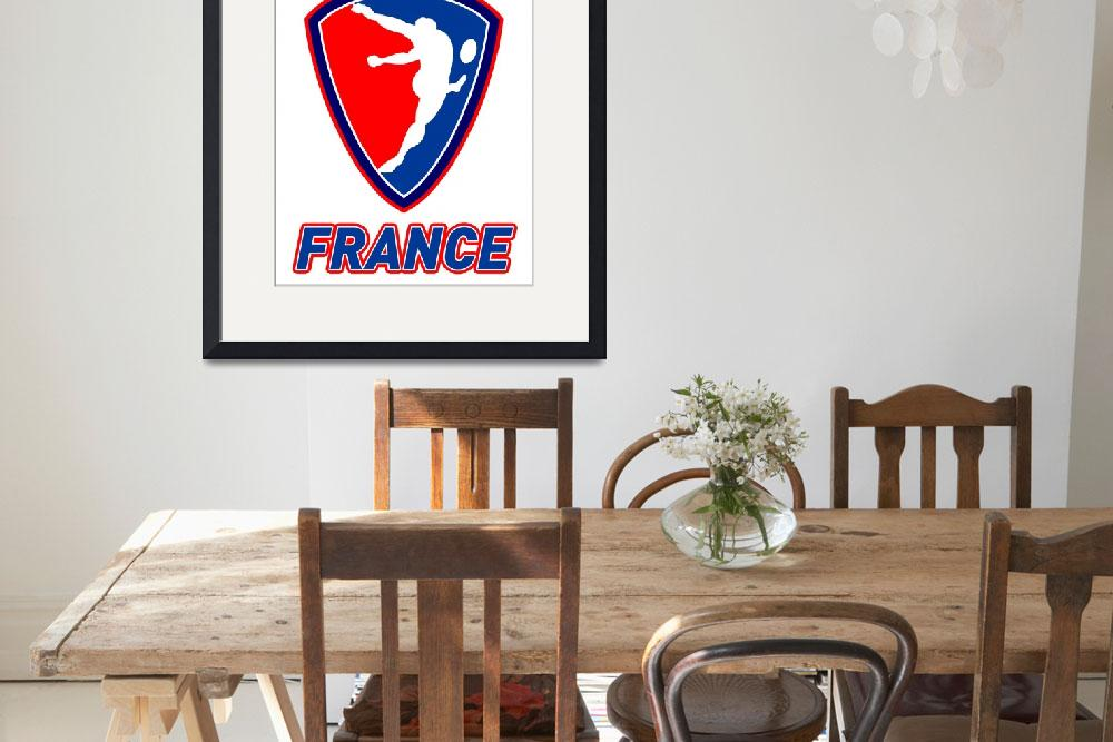 """rugby player kicking ball champions France""  (2013) by patrimonio"