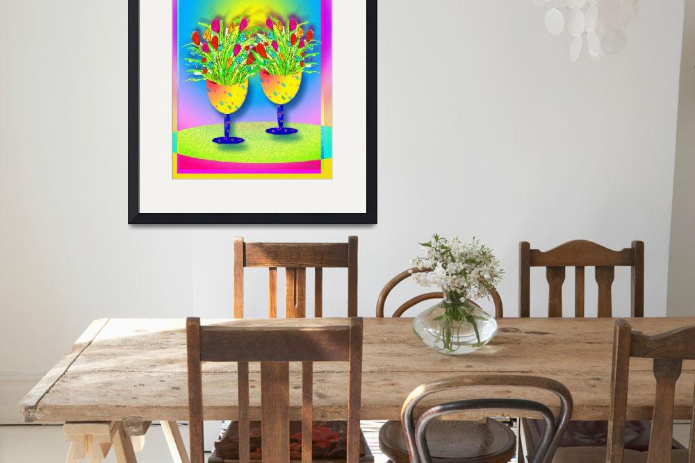 """""""""""Two Yellow Goblets""""&quot  by TSCOT"""