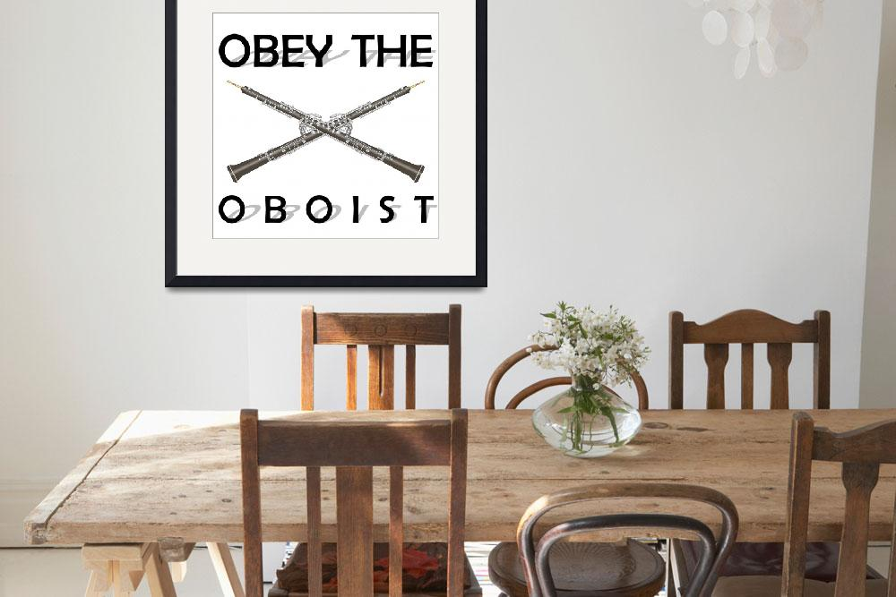 """Obey the Oboist&quot  by maryostudio"