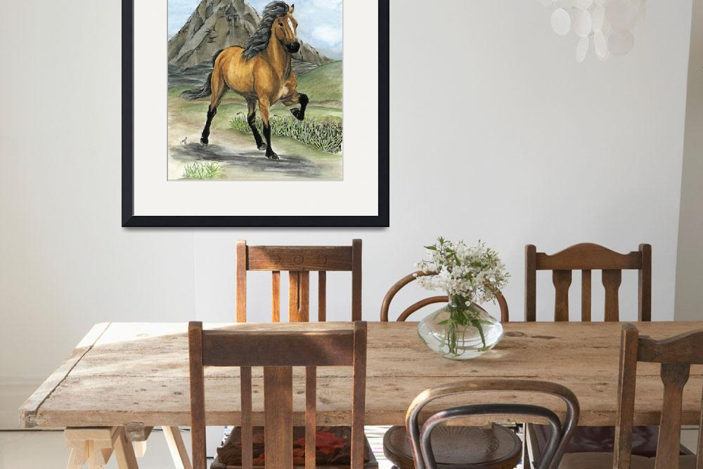"""Golden Tolt Icelandic Horse&quot  (2008) by inkandbrushcreations"
