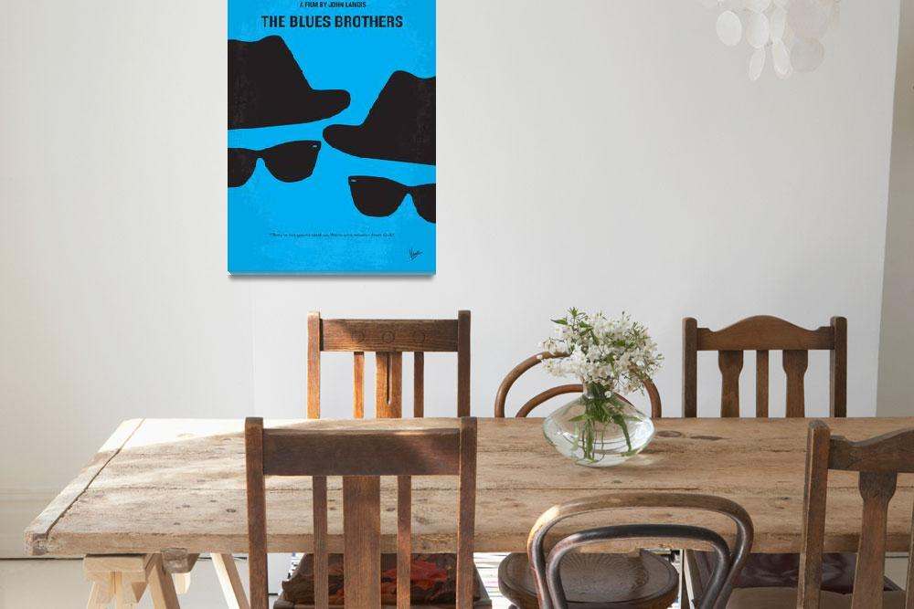 """No012 My Blues brother minimal movie poster&quot  by Chungkong"