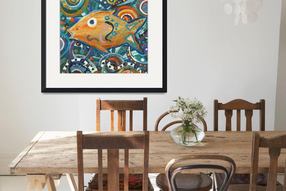 """Orange Fish&quot  (2010) by paintingsbygretzky"