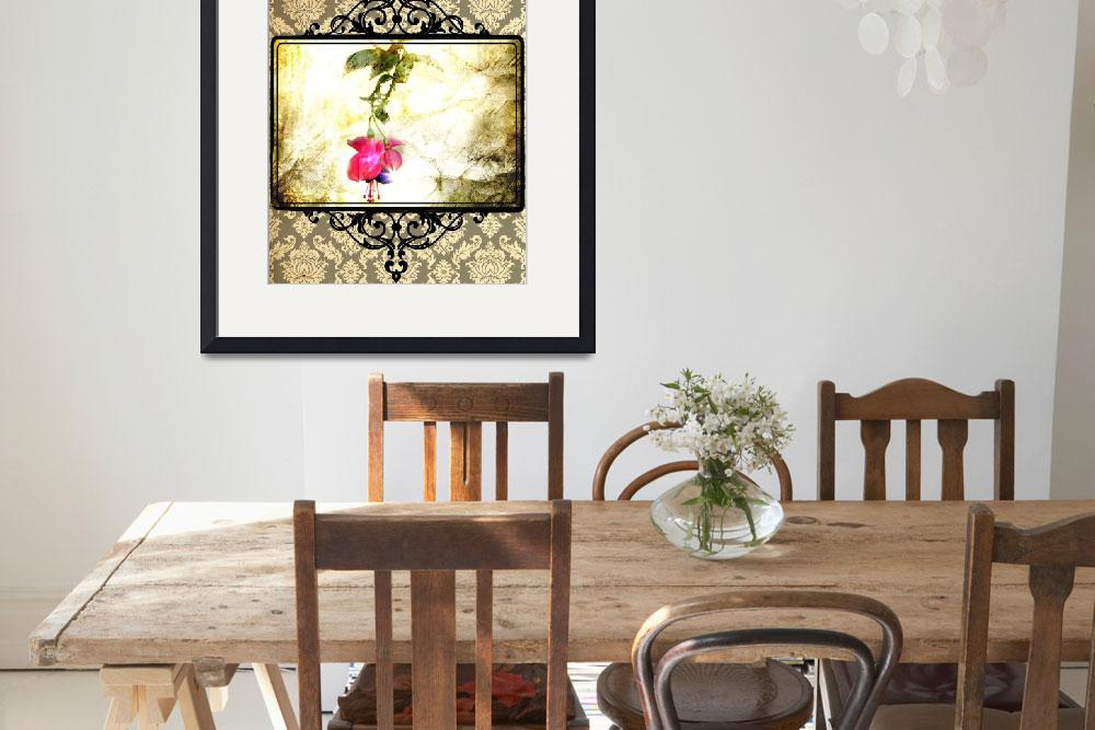 """""""Damask Flower Print (Psalm 23)&quot  (2011) by StacyLee"""