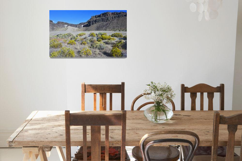 """""""Frenchman Coulee Rabbitbrush on sand dunes""""  (2016) by JohnChaoPhoto"""