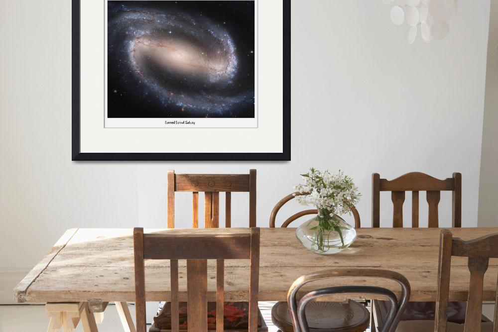 """""""Barred Spiral Galaxy""""  (2012) by SouthIdahoPhoto"""