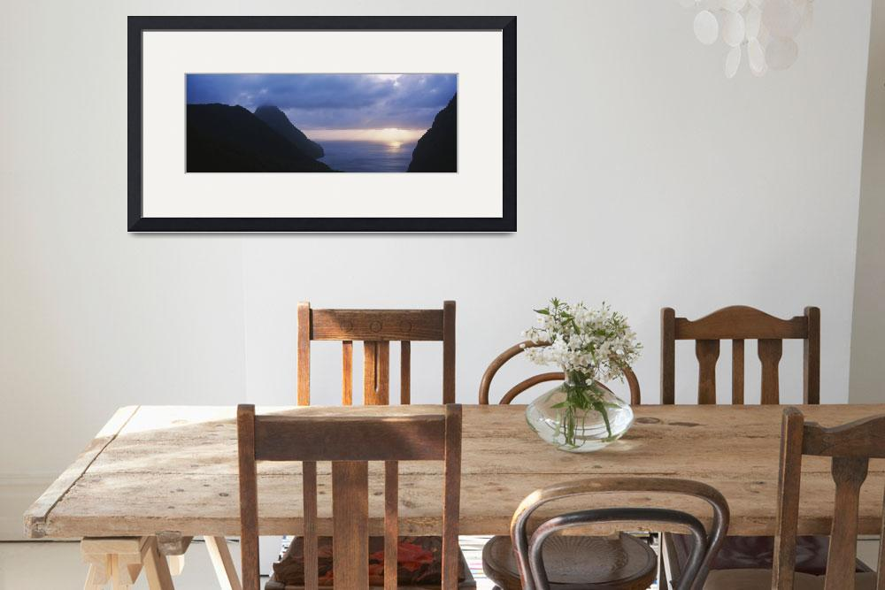 """""""Sunset The Pitons St Lucia Windward Islands&quot  by Panoramic_Images"""
