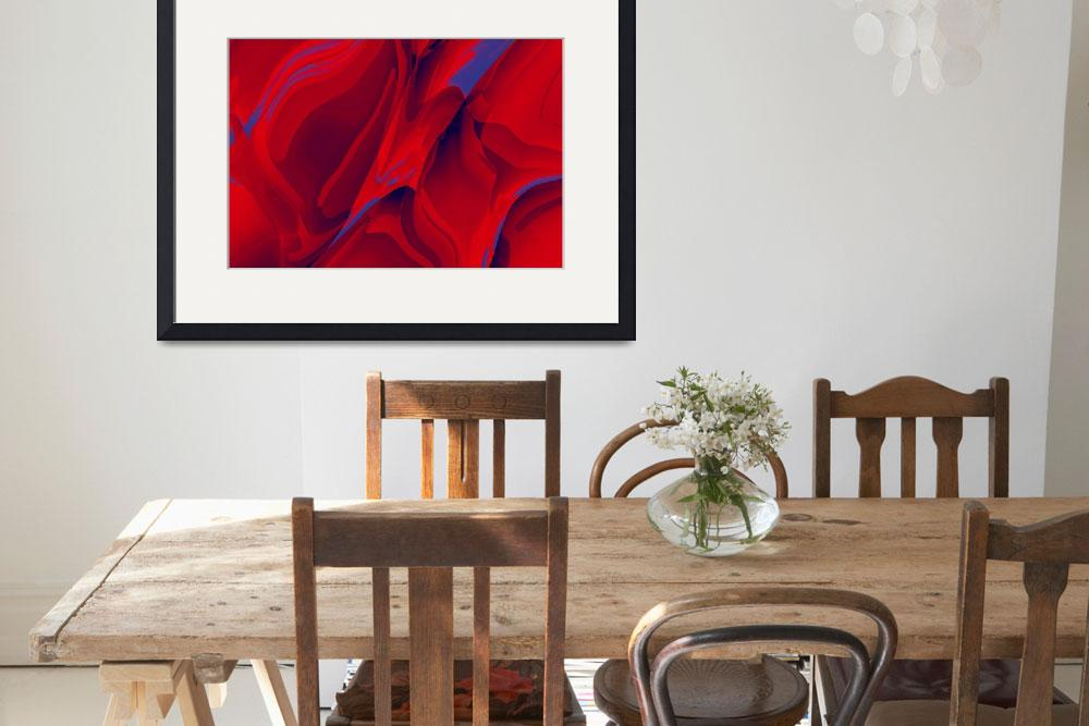 """""""Red-blue Abstract""""  (2008) by deedemigjorn"""