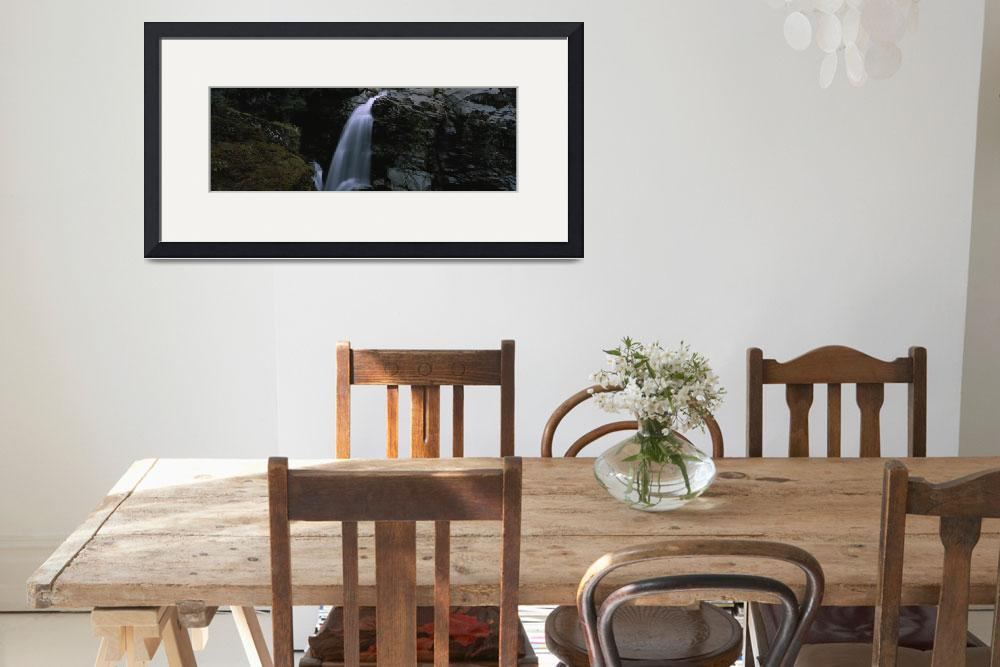 """""""High angle view of a waterfall&quot  by Panoramic_Images"""