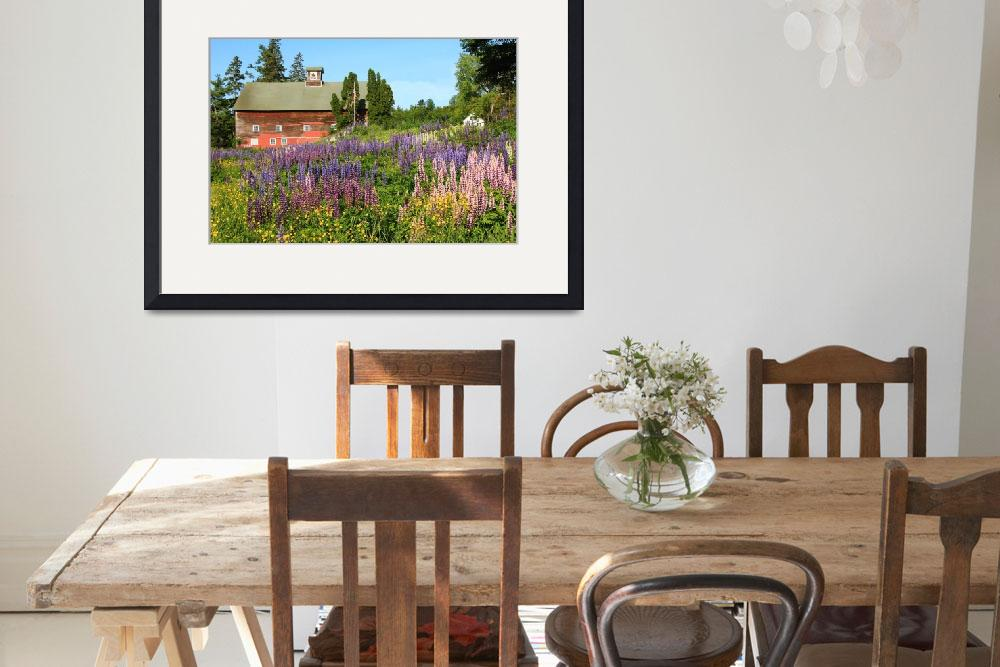 """""""Wildflowers and Red Barn&quot  (2011) by RoupenBaker"""