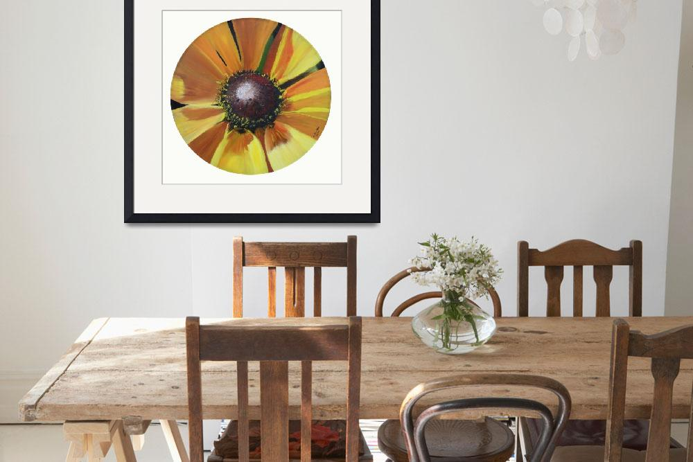 """""""Sunflower on Vinyl Record&quot  (2009) by claudiagoodell"""