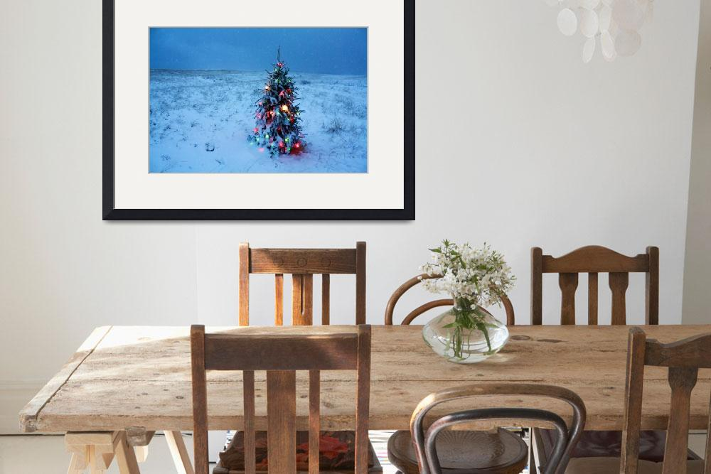 """""""Cape Cod Christmas Tree on the Beach&quot  (2015) by ChrisSeufert"""