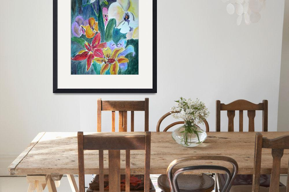 """""""Lillies and Orchids&quot  by Yael"""