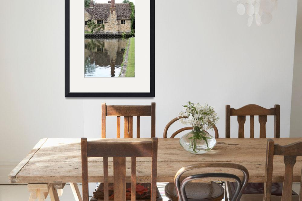 """""""Country house and moat&quot  by rhallam"""