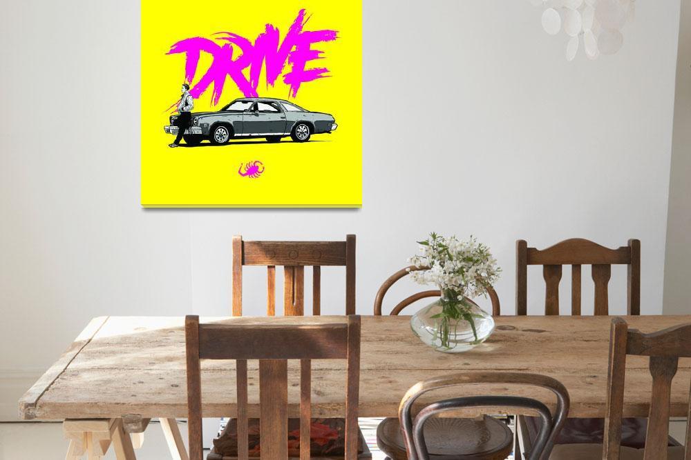 """""""DRIVE (Yellow ed.)&quot  (2013) by federicomancosu"""