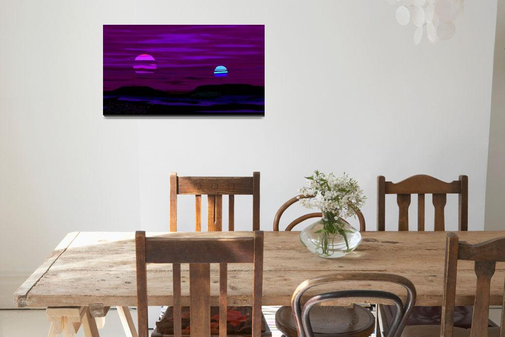 """""""Violet Alien Sunset""""  (2013) by TheNorthernTerritory"""