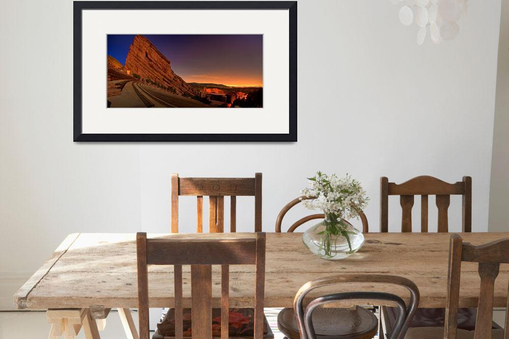 """""""Red Rocks Amphitheatre at Night, CO&quot  by jamesomedia"""