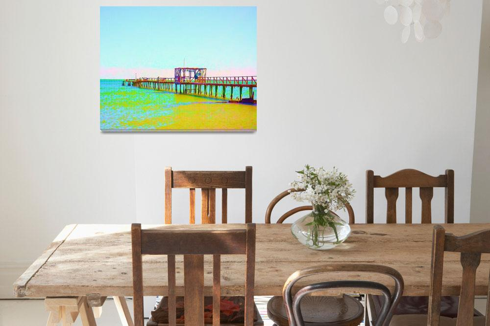 """""""Painted Fishing Pier&quot  by ChrisAndruskiewicz"""