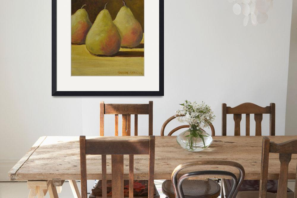 """""""Pears&quot  (2015) by SandyAndy"""