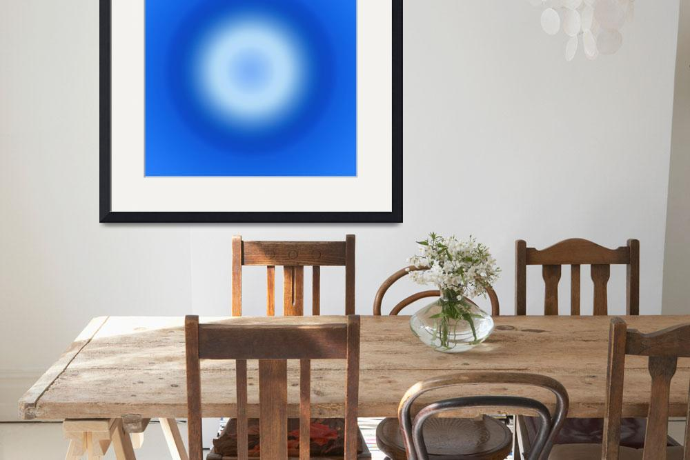 """""""Blue ball abstract 3&quot  by Morganhowarth"""