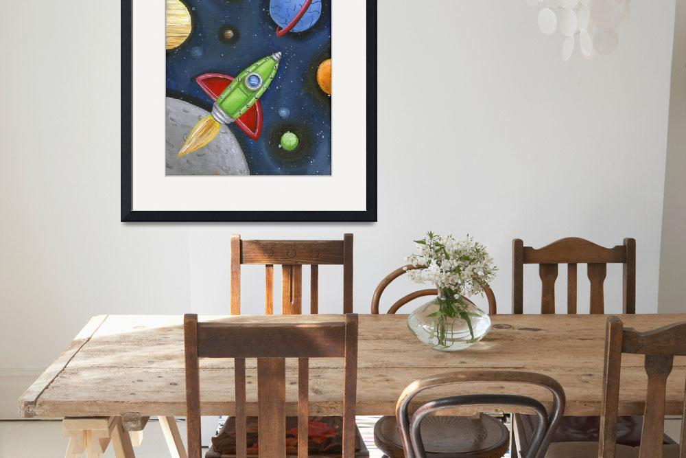 """Rocket in Space&quot  (2010) by jjweststudio"