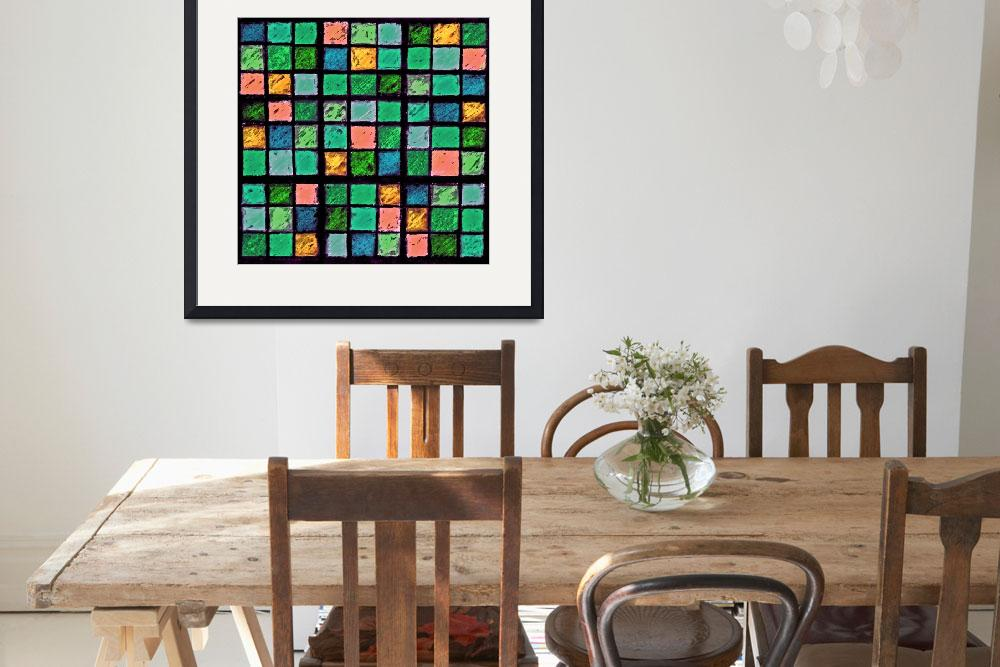 """Sudoku Abstract Blue Green Orange""  (2012) by KsWorldArt"