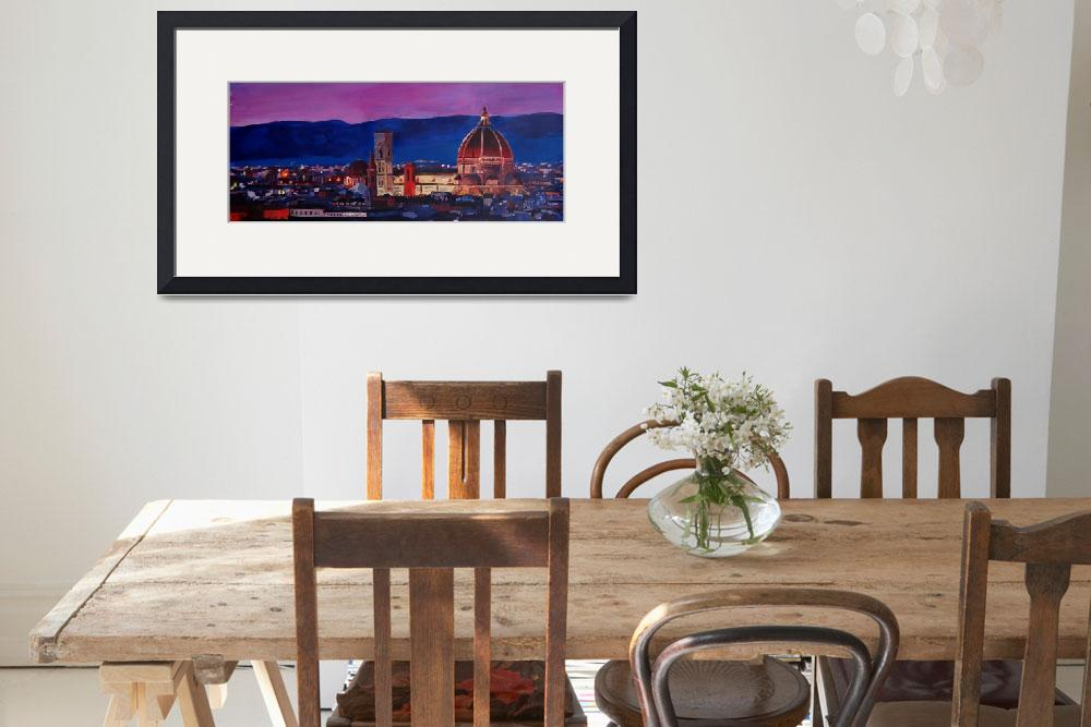 """""""Florence Skyline Italy With Santa Maria Del Fiore""""  (2013) by arthop77"""