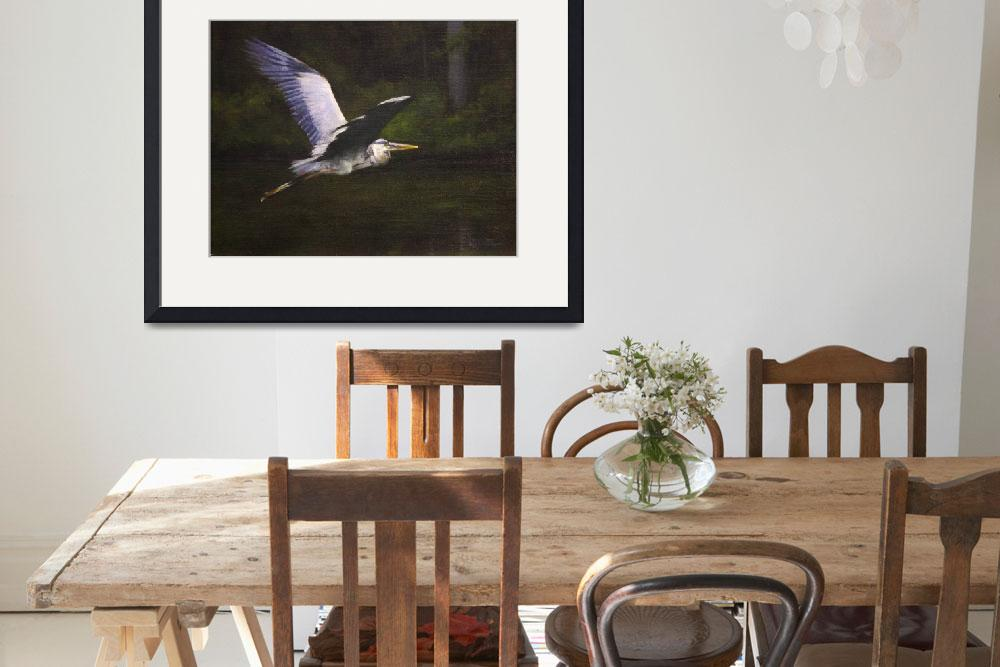 """""""Umstead Heron #5&quot  (2011) by LDWhite"""