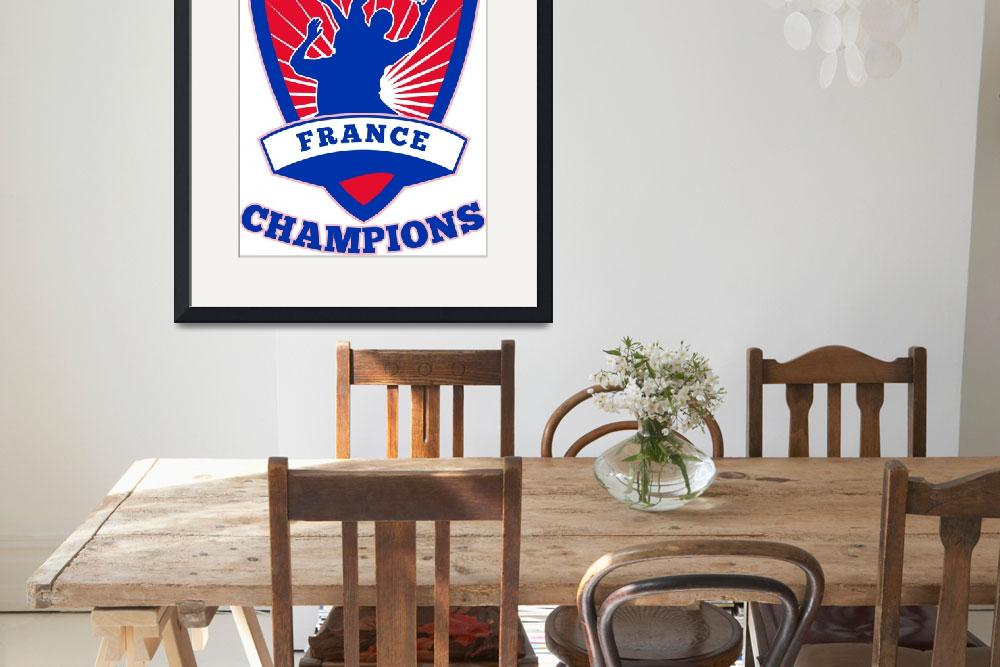 """""""Rugby Player France  Champions""""  (2013) by patrimonio"""
