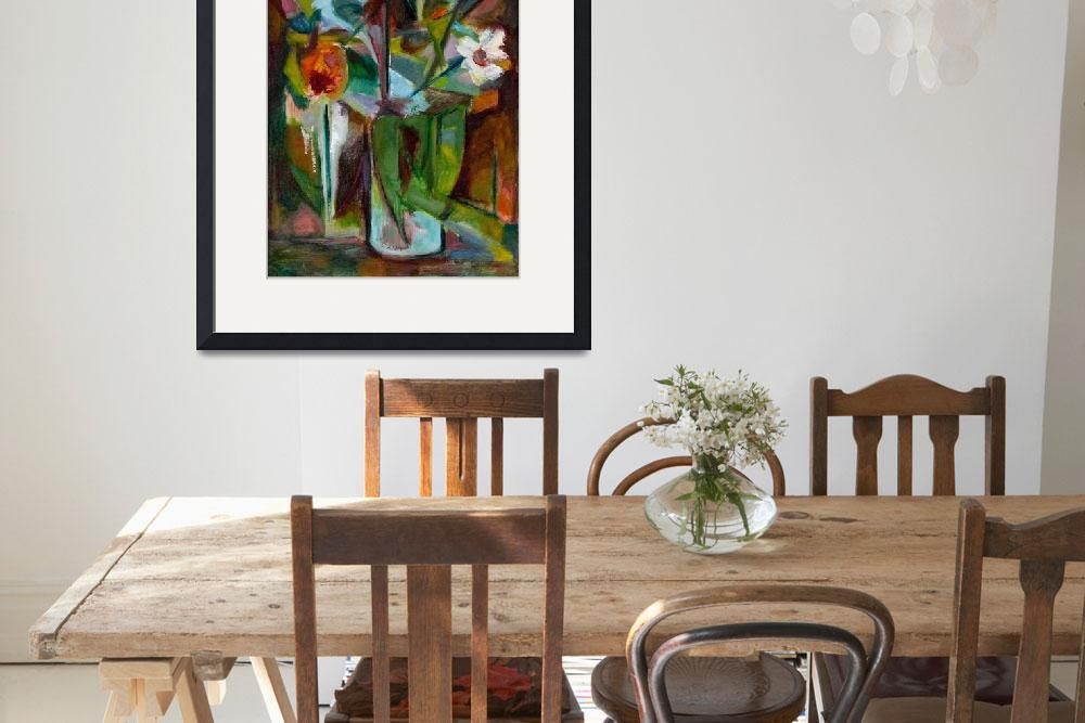 """""""Abstract Floral Still Life Oil Painting&quot  (2009) by WieberArt"""