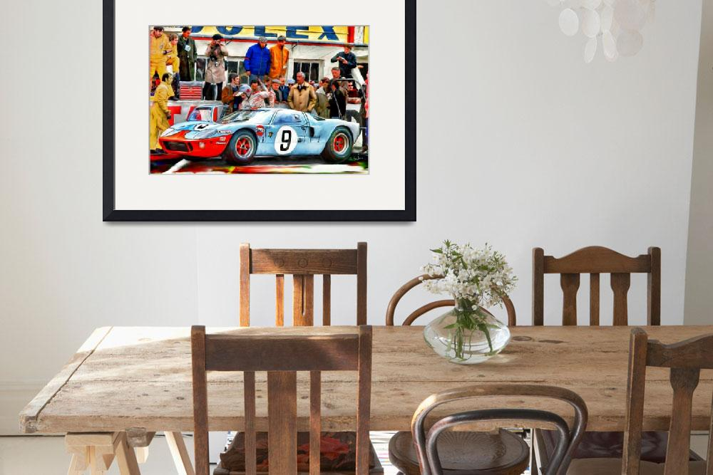 """Ford GT 40 at LeMans, 1968&quot  (2012) by ArtbySachse"