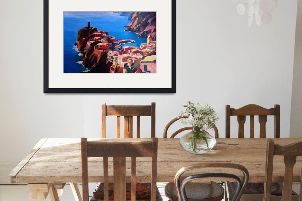 """""""Spectacular Cinque Terre View to Vernazza Ligure&quot  by arthop77"""