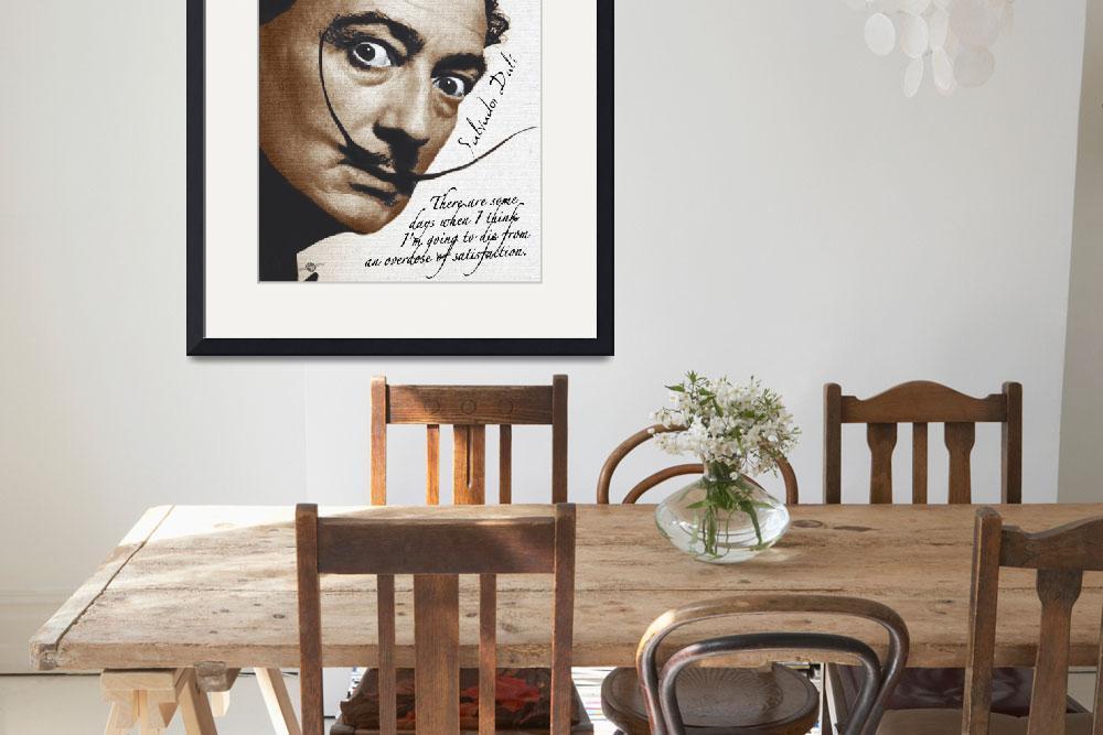 """""""Salvador Dali Realistic Painting With Signature An&quot  (2017) by RubinoFineArt"""