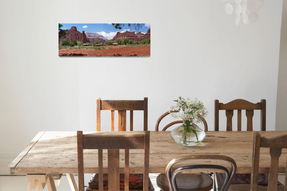 """Havasupai Village Panorama""  (2012) by almarphotography"