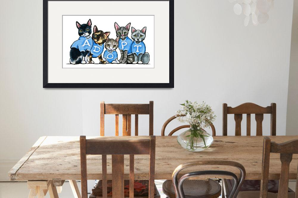 """""""Adopt Shelter Cats&quot  (2014) by OffLeashArt"""