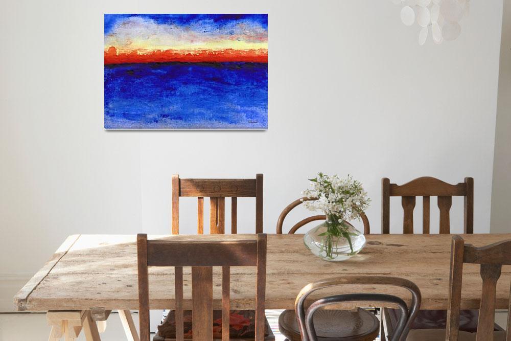"""Sunrise Seascape Abstract 2c""  (2014) by Ricardos"