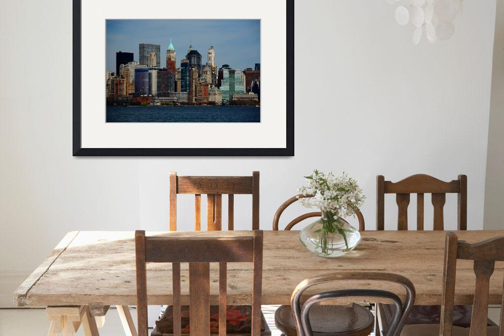 """""""New York City Skyline 2009&quot  (2009) by Ffooter"""