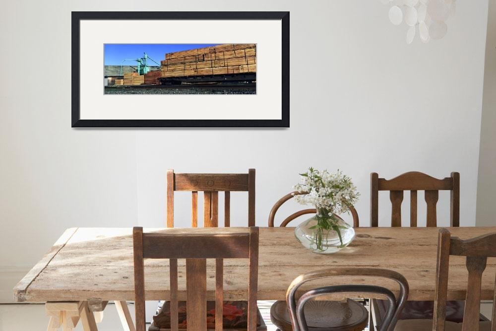 """Timber being loaded in a freight train&quot  by Panoramic_Images"