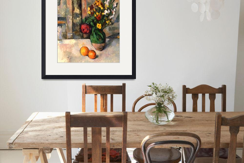 """""""Stillife with apples and flowers""""  by ArtLoversOnline"""