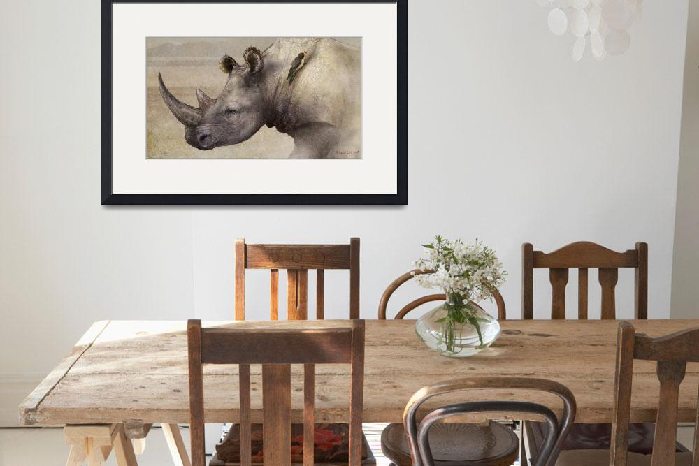 """""""rhino in the dust&quot  (2011) by rchristophervest"""