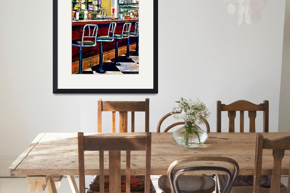 """""""Candy Store With Soda Fountain&quot  by susansartgallery"""