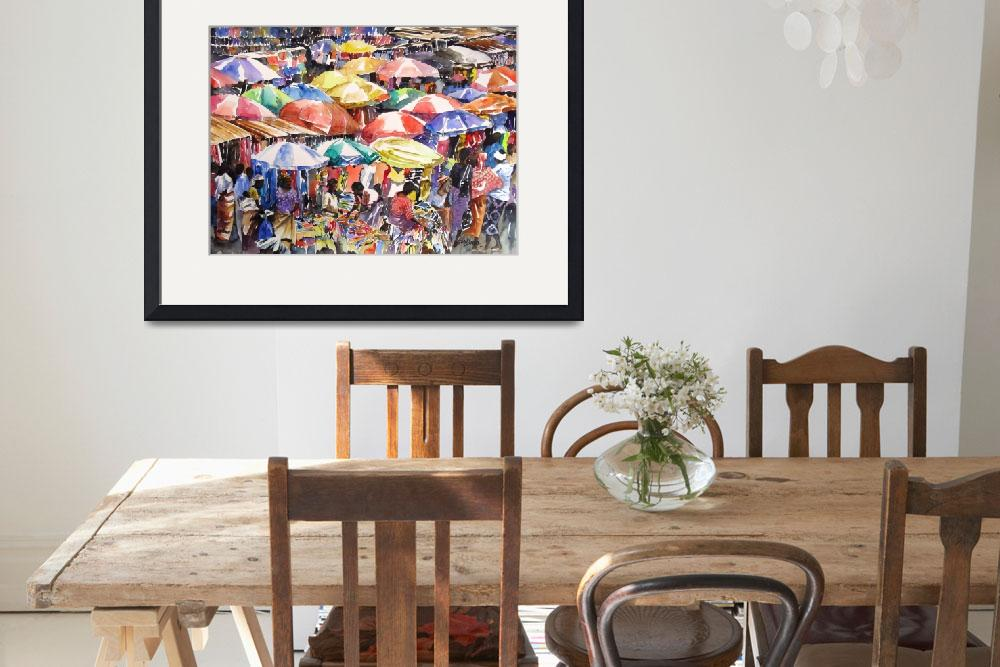 """""""African Market&quot  (2014) by INIBROWN"""