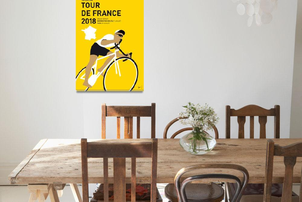 """MY TOUR DE FRANCE MINIMAL POSTER 2018&quot  by Chungkong"
